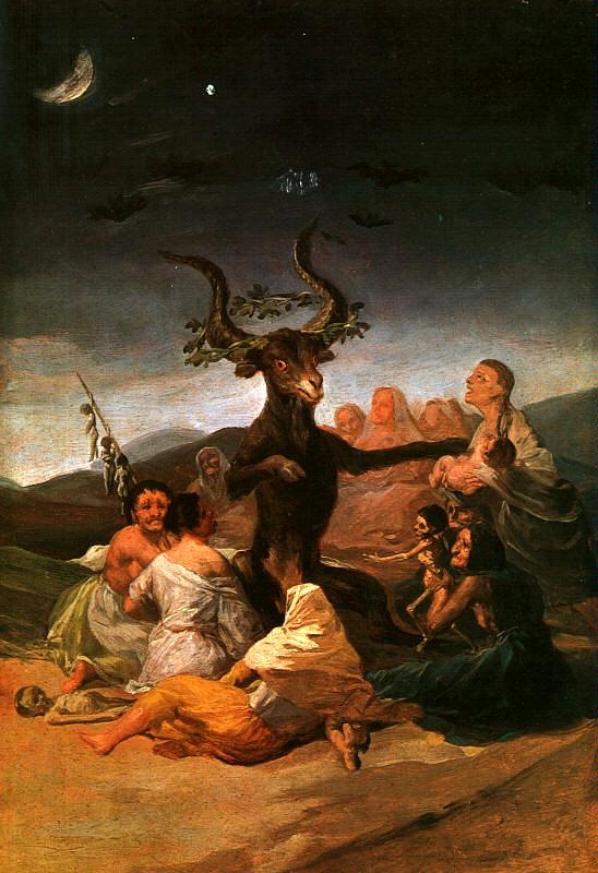 El Aquelarre, ou O sabá das Bruxas, de Goya (1797 - 1798)